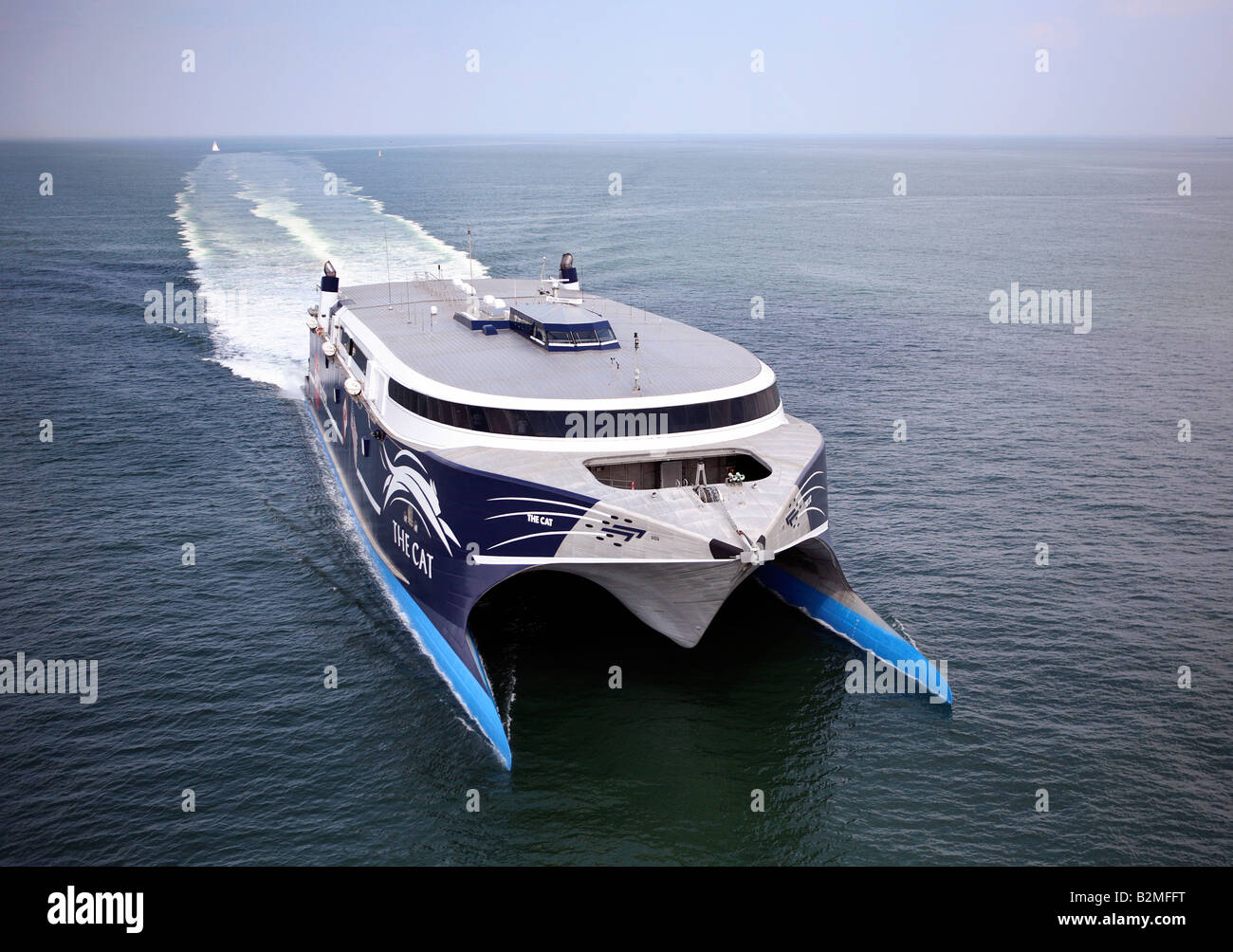 Bay Ferries High Speed Catamaran Enters Boston Harbor On A