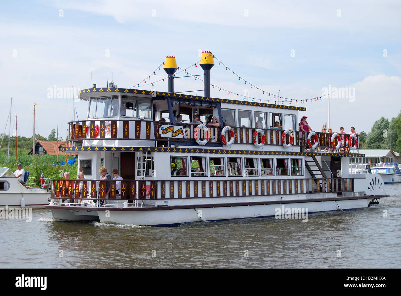 Southern Comfort Paddle Steamer Cruise Boat On River Bure