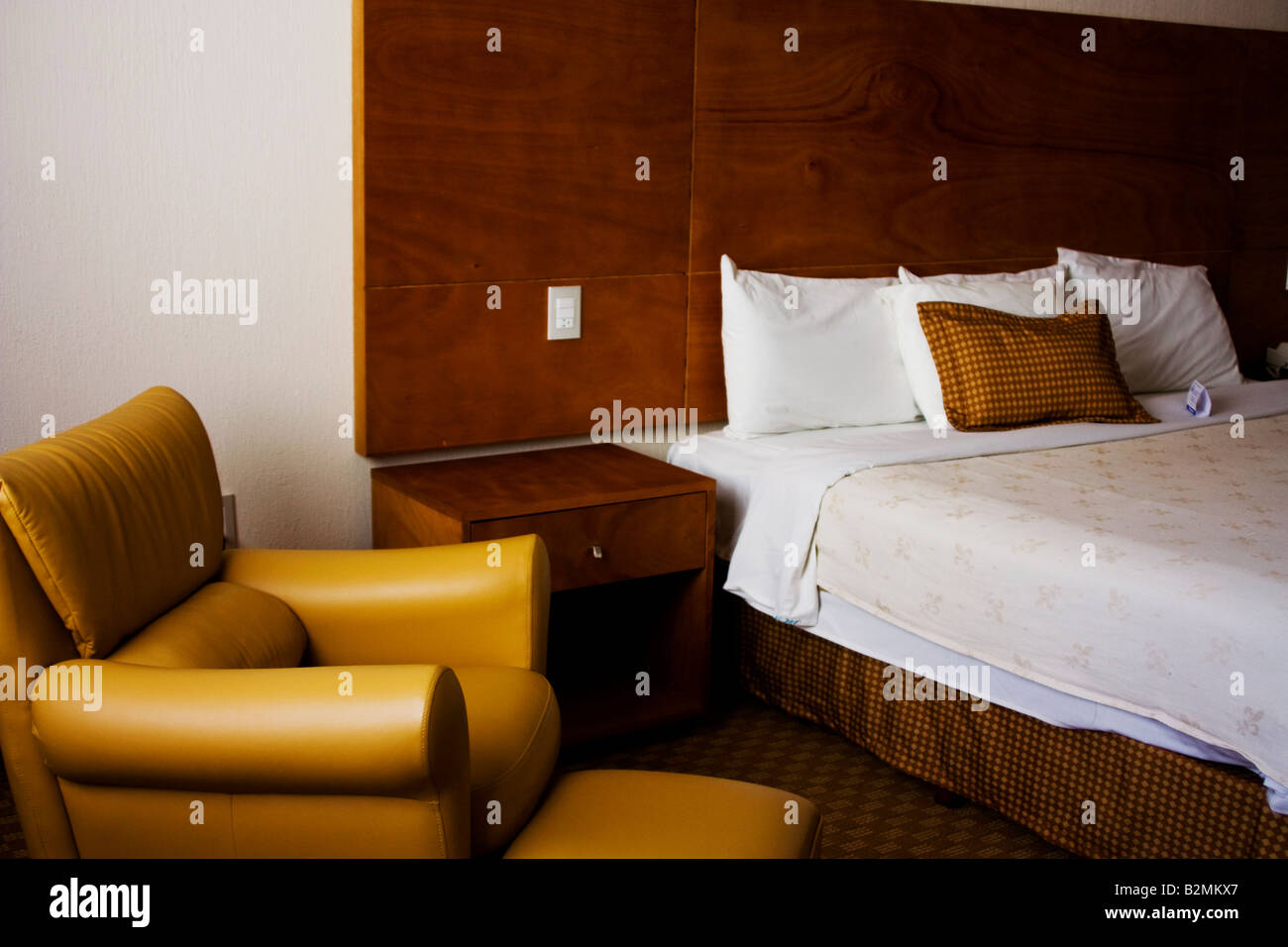 Mexico, San Luis Potosi, Room at the Holiday Inn Express Hotel - Stock Image