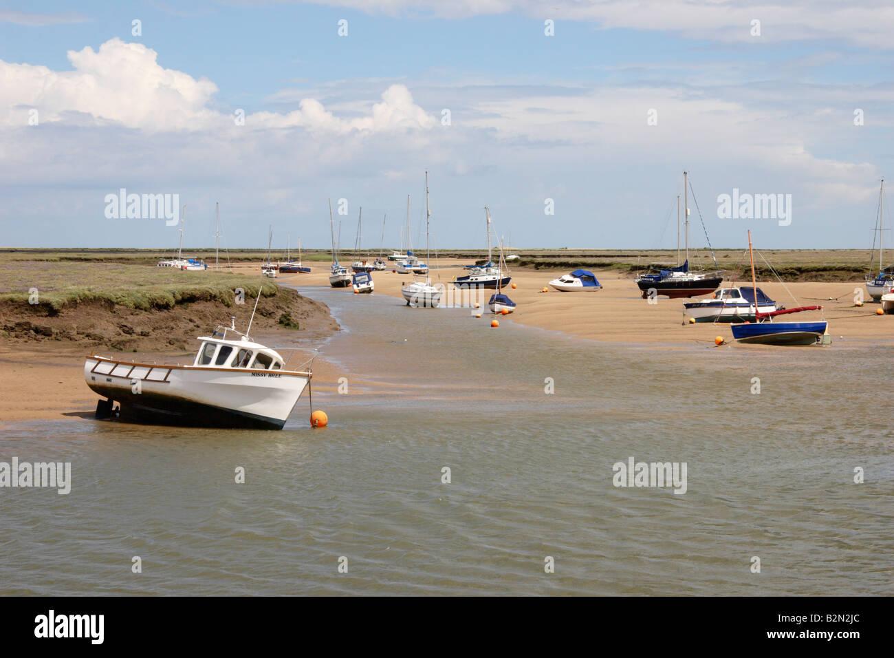 Wells Next the Sea, Saltmarshes, Norfolk, England. Stock Photo