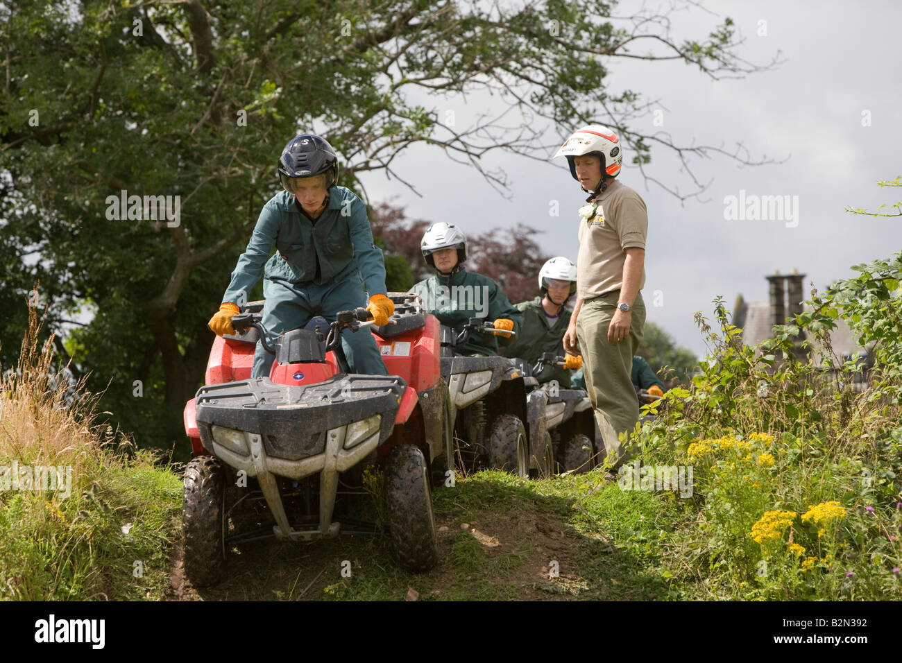 Quad Biking Tuition North Yorkshire by Yorkshire 4x4 - Stock Image