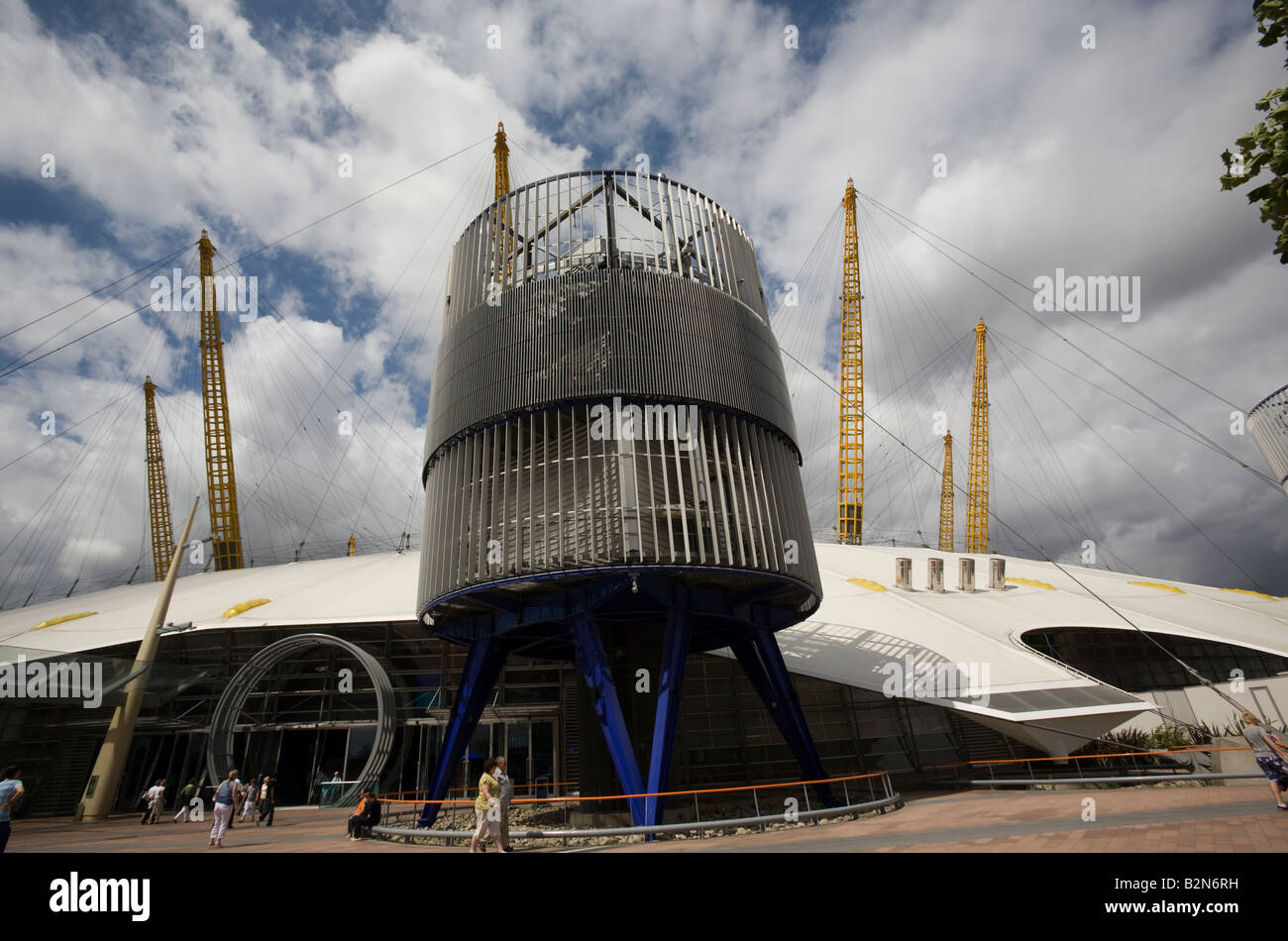 Exterior of refurbished O2 Dome Greewich GB UK - Stock Image