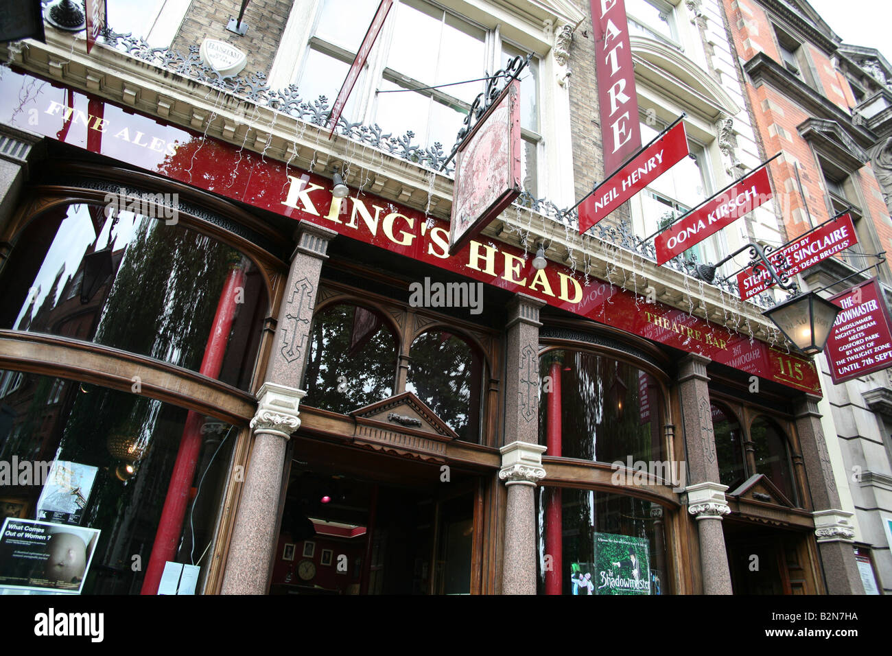 Kings Head theatre pub in Islington, North London - Stock Image