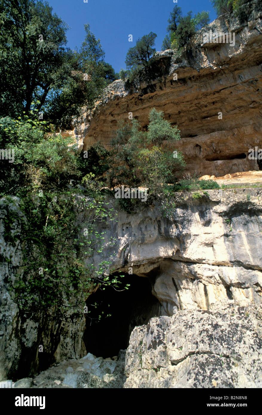 sa oche cave, supramonte, italy - Stock Image