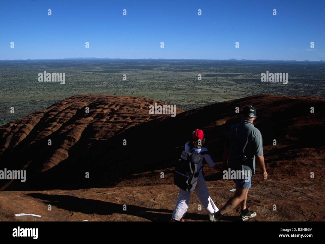 walking near ayres rock australia - Stock Image