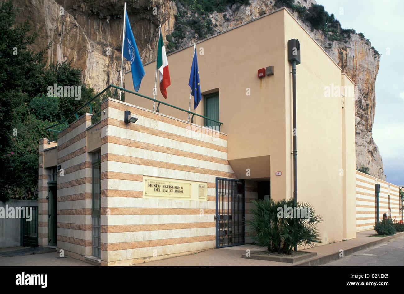 prehistory museum of balzi rossi, ventimiglia, italy - Stock Image
