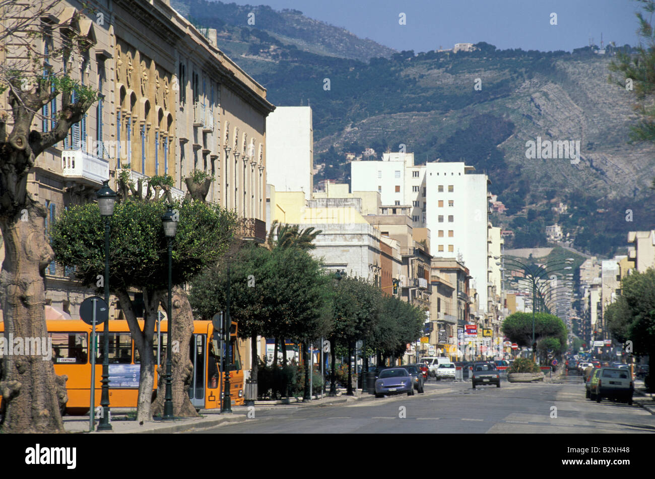 g. b. fardella street, trapani, Italy - Stock Image