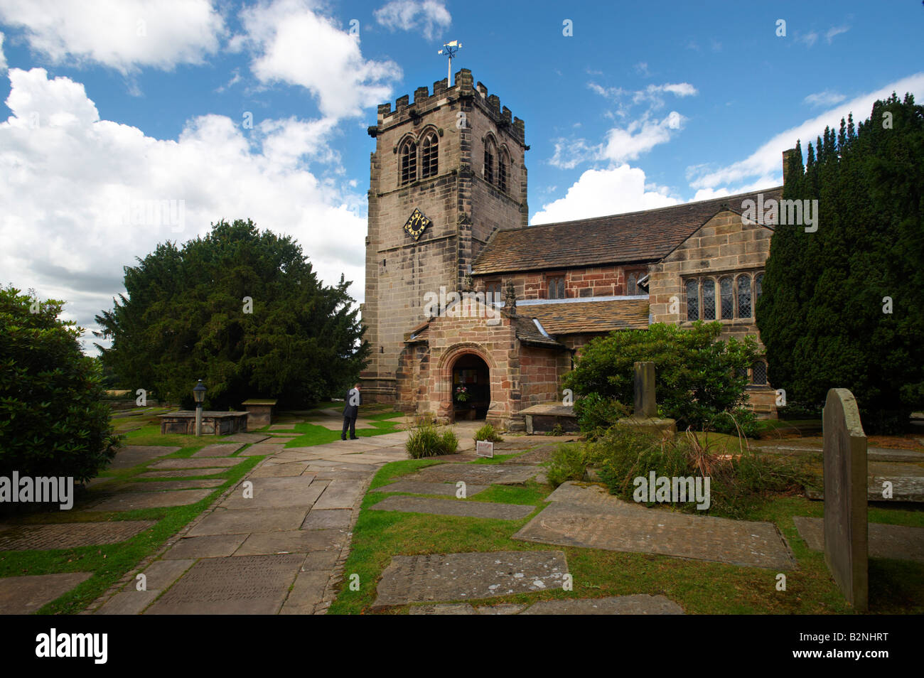 Nether Alderley St Mary s Church Alderley Edge Cheshire UK - Stock Image