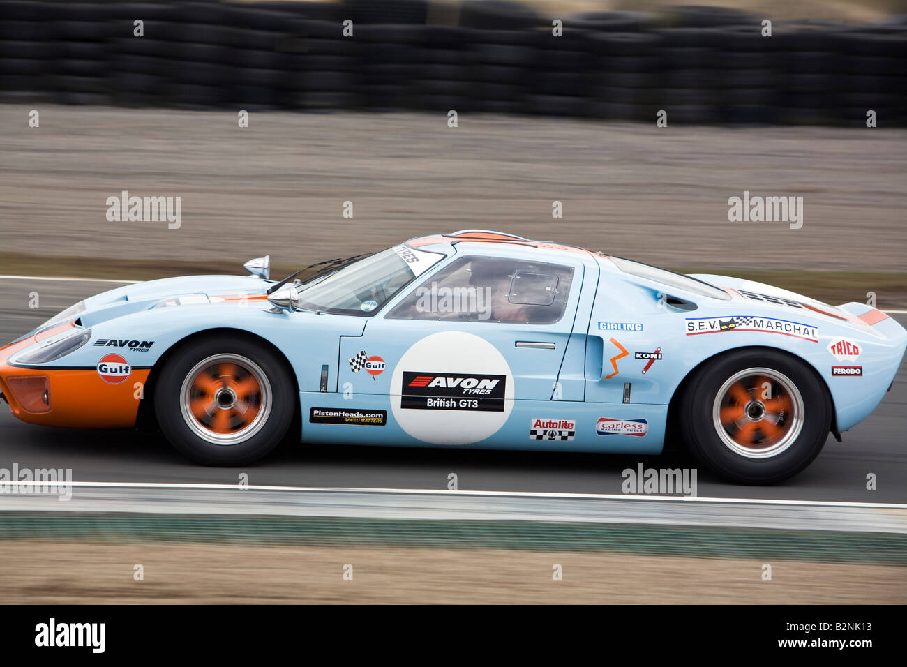 Ford Gt Continuation Gtp  Gulf Racing Livery Knockhill Racing Circuit Fife Scotland