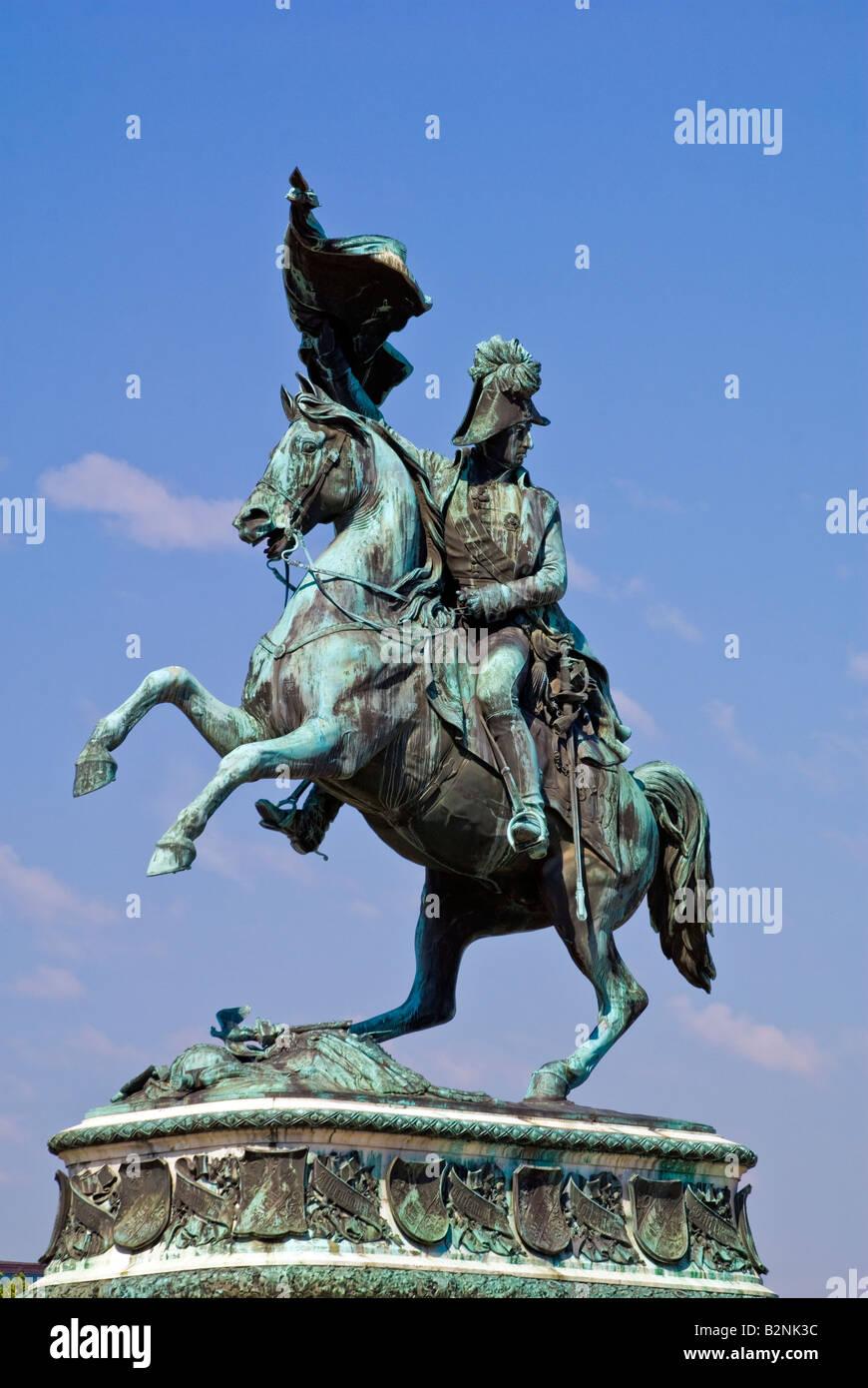 Archduke Charles of Austria, Heldenplatz, Vienna - Stock Image