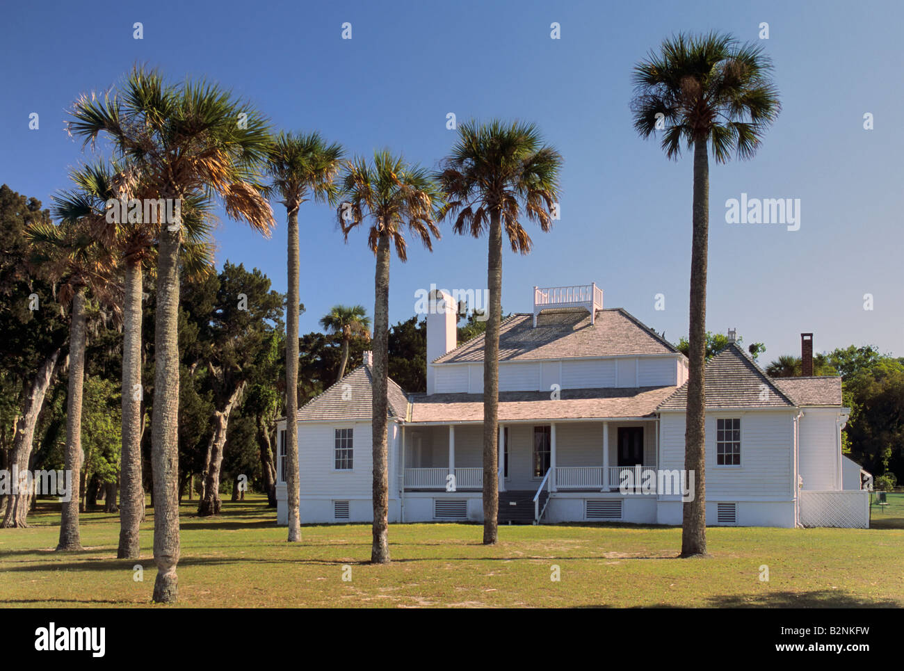 Kingsley Plantation at Fort George Island near Jacksonville Florida USA - Stock Image