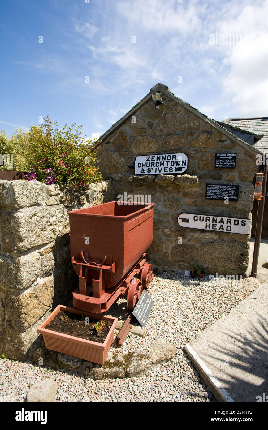 Wayside Folk Museum in Zennor near St Ives Cornwall West Country England UK United Kingdom GB Great Britain British - Stock Image