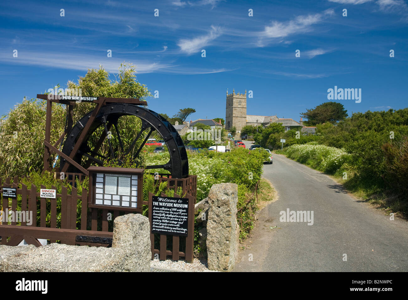 Wayside Folk Museum and village church in Zennor near St Ives Cornwall West Country England UK United Kingdom GB Stock Photo
