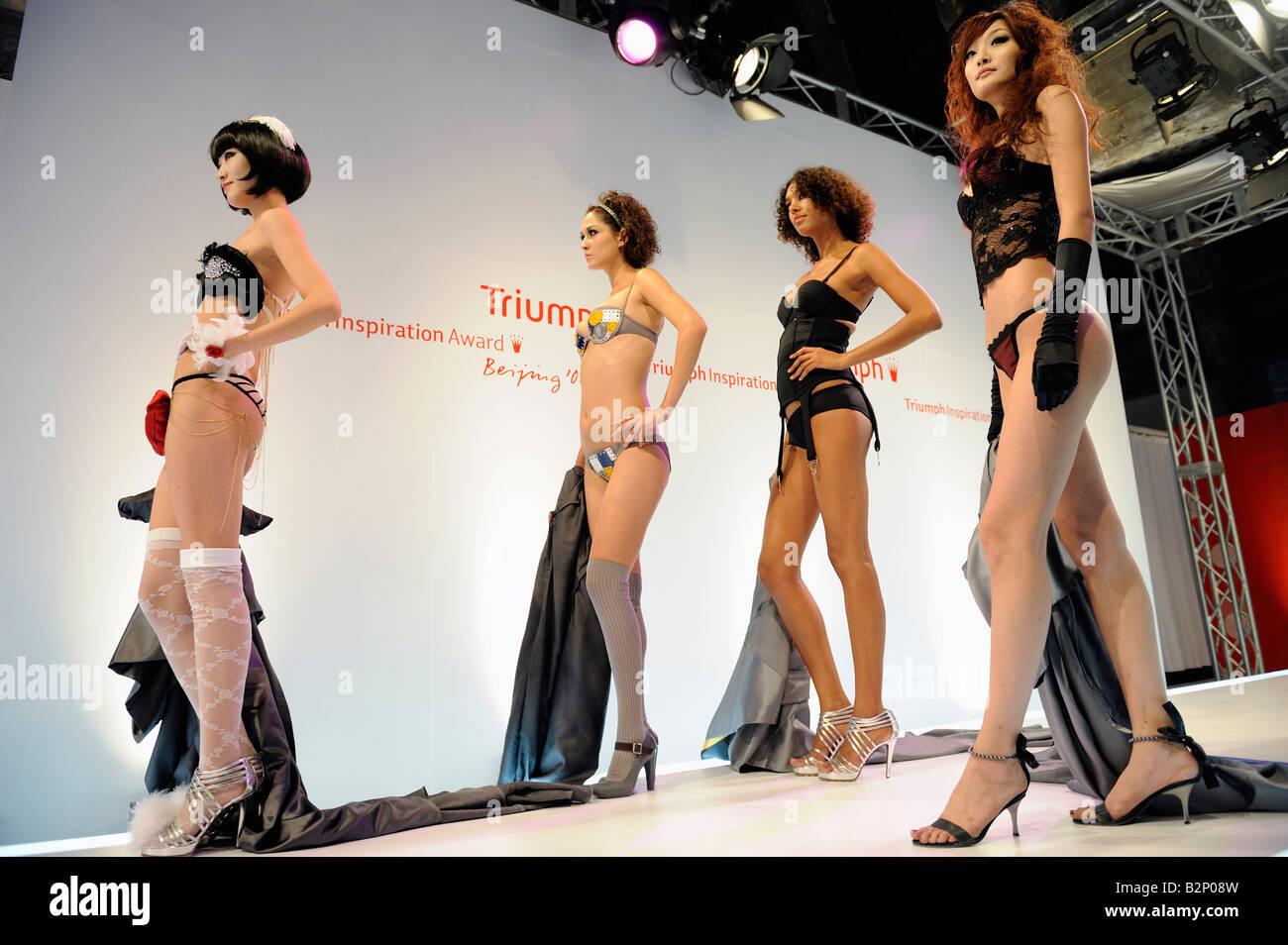 Triumph Inspiration Award 08 final in Beijing, China. 31-Jul-2008 - Stock Image