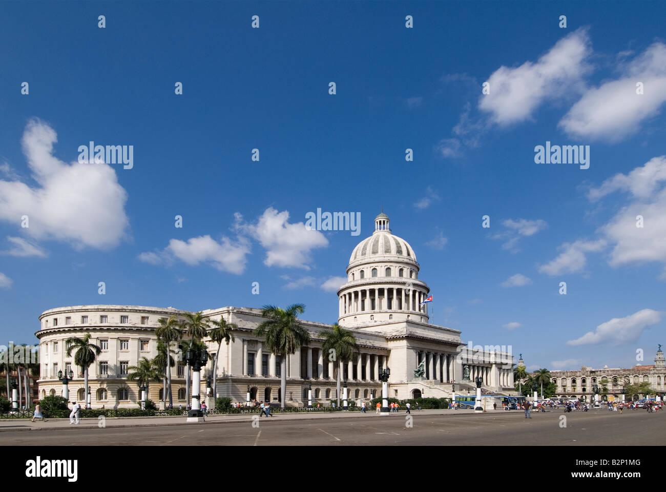 Capitolio in La Habana Vieja Havana Cuba - Stock Image
