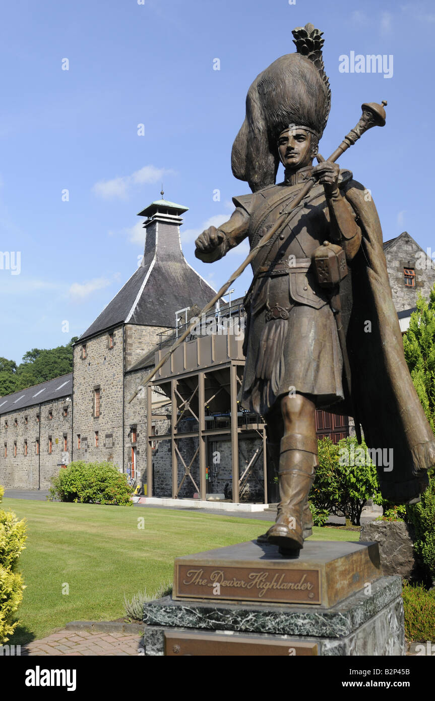 Aberfeldy Distillery in the true heart or centre of Scotland Perthshire. - Stock Image