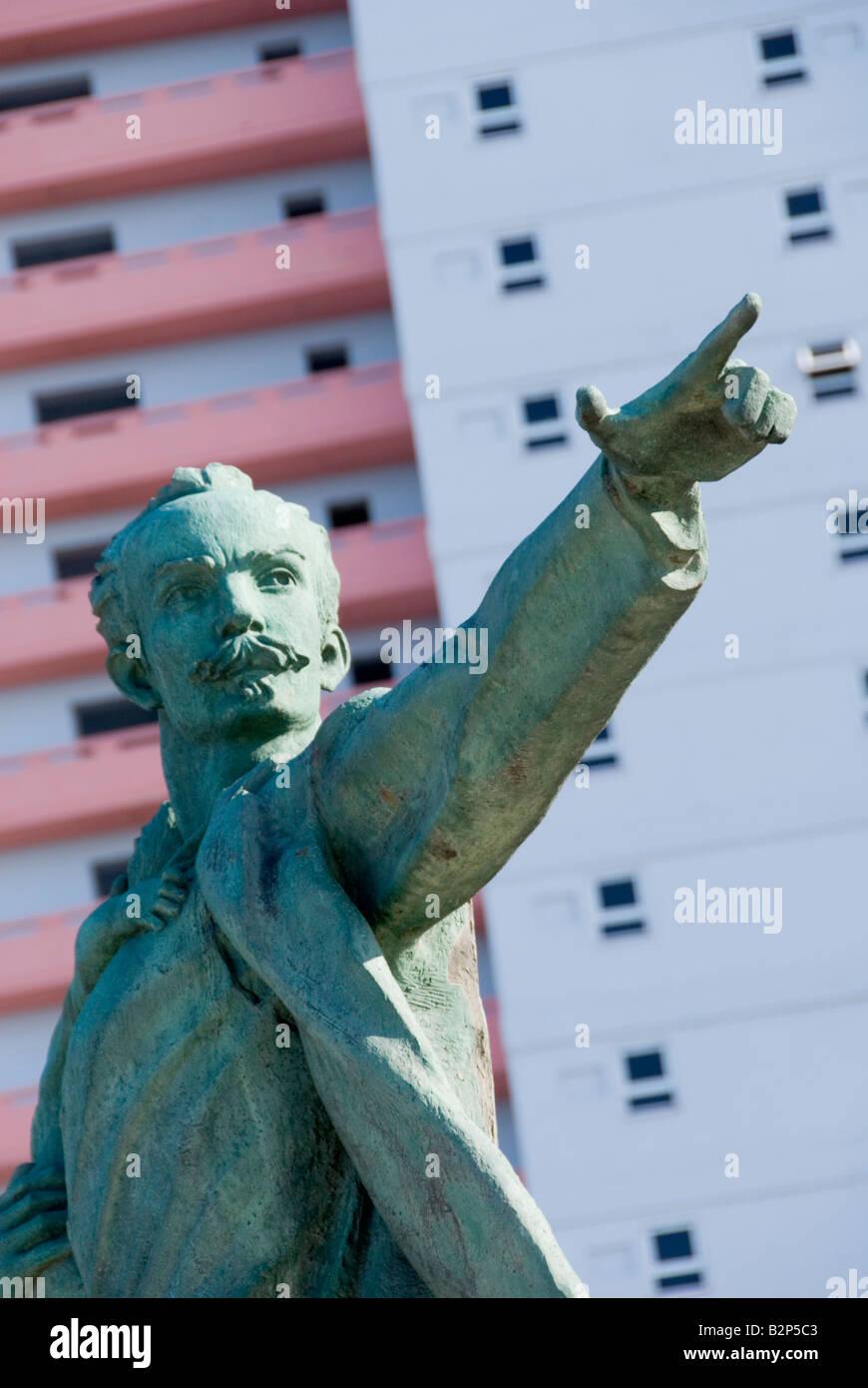 Statue of Jose Marti with Elian Gonzalez at the Jose Mart Anti Imperialist Plaza Havana Cuba - Stock Image