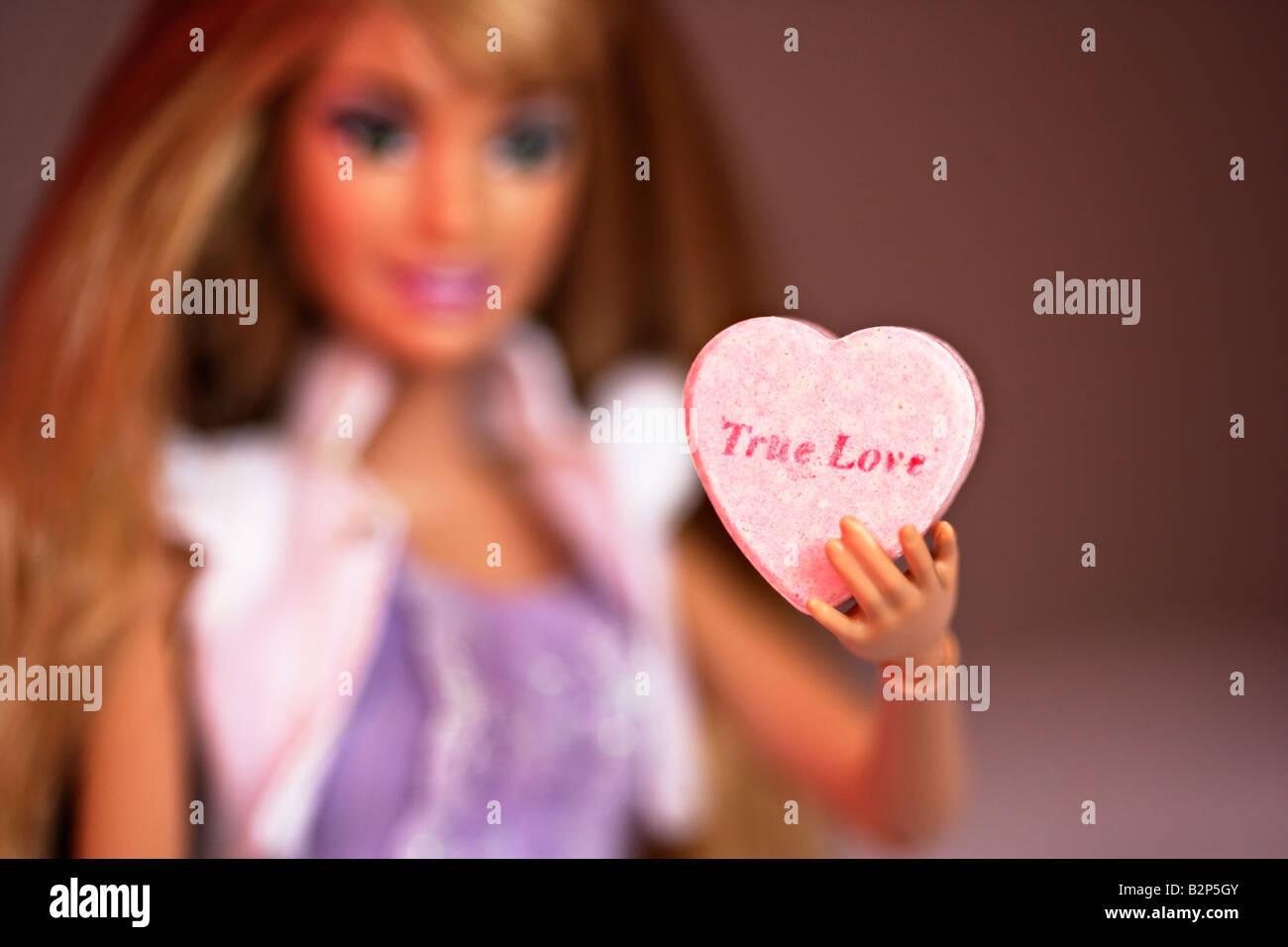 Barbie Doll Series. Barbie finds true love - Stock Image