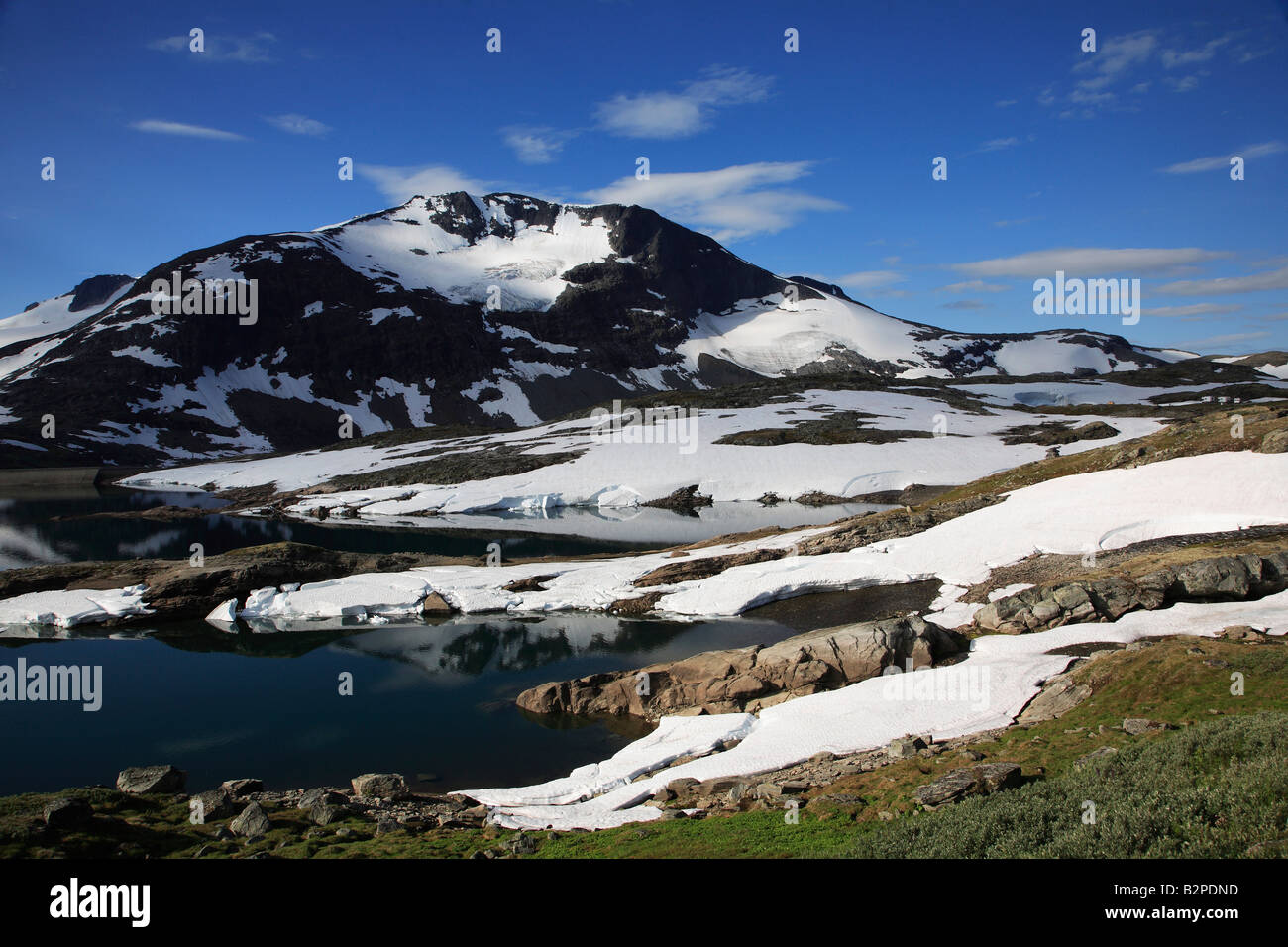 Norway Jotunheimen National Park mountain landscape scenery - Stock Image