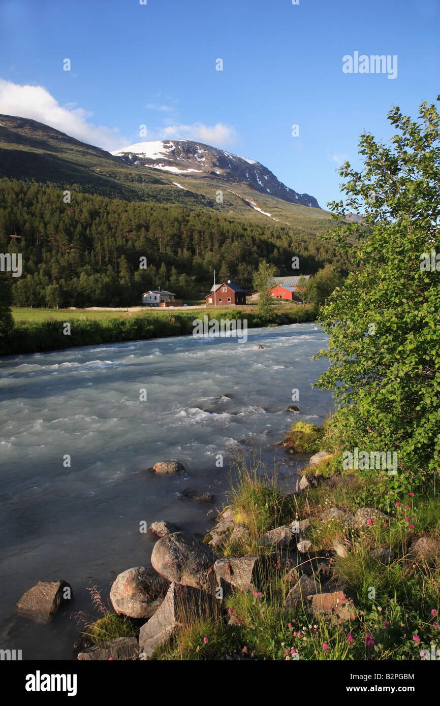 Norway Jotunheimen National Park mountain landscape scenery - Stock Image