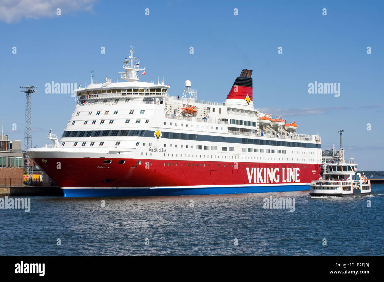 Ferry at the port of Helsinki Finland - Stock Image