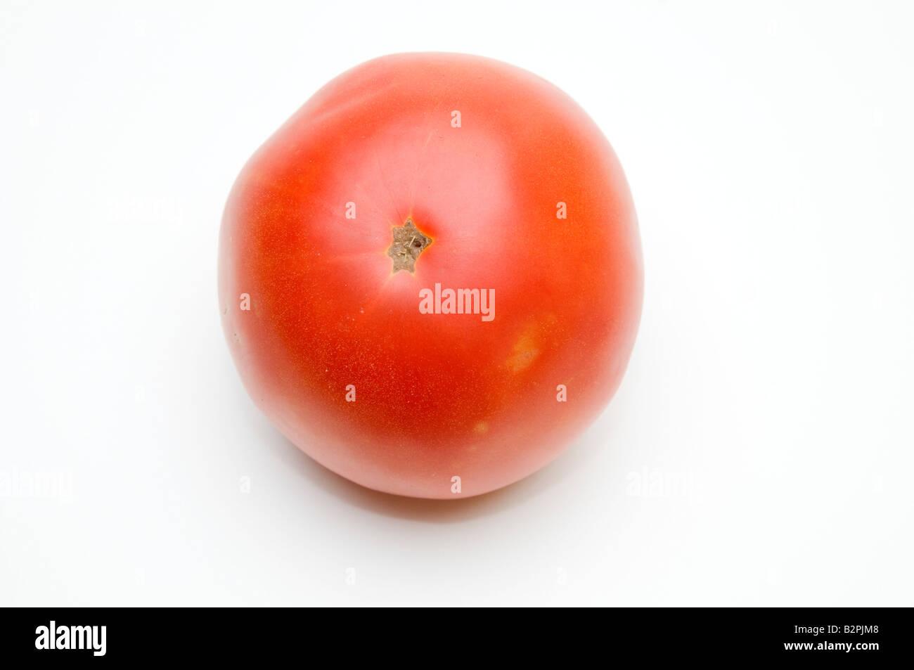 fresh ripe Red tomato on white background - Stock Image
