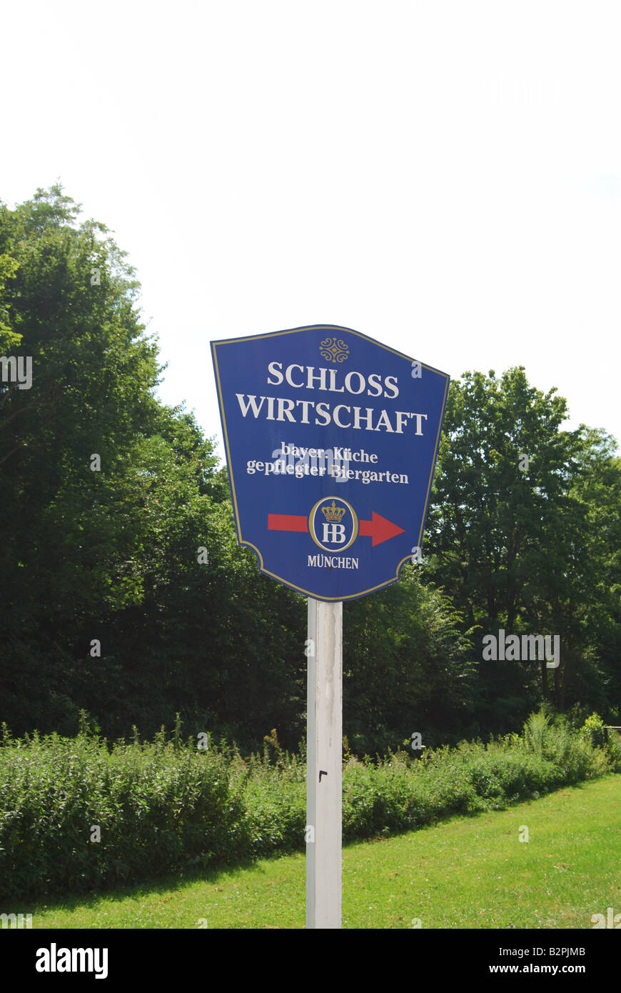Schloss Wirtschaft beergarden outside of Munich at Schloss Schleißheim - Stock Image