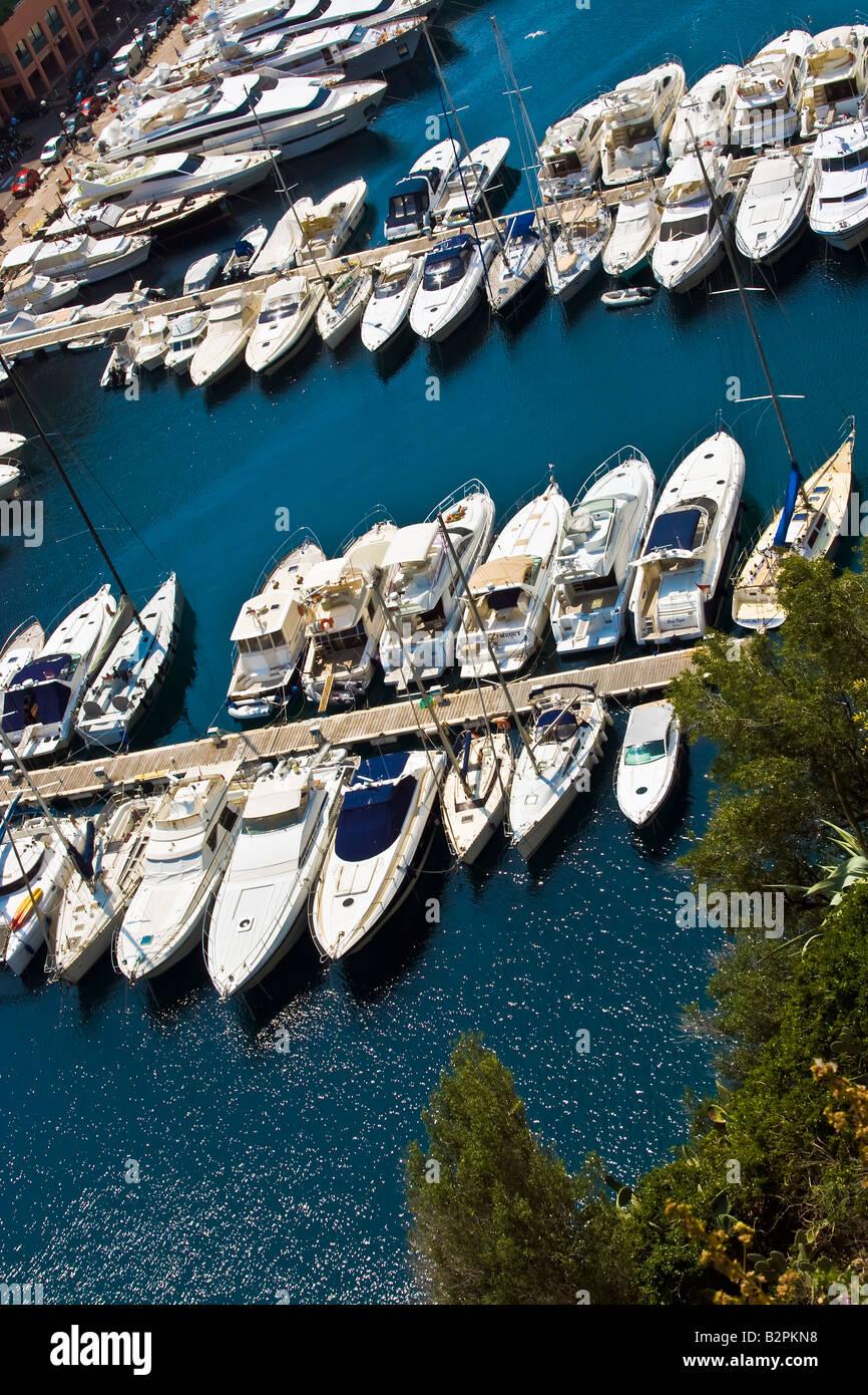 MONACO, MONTE CARLO. Fontvieille - Luxury bay in Monte Carlo in the Principality of Monaco in Europe. - Stock Image