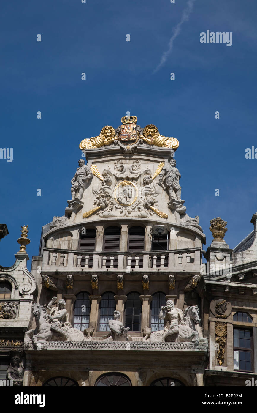 le cornet house on the grand place at brussels stock photo 18940732 alamy. Black Bedroom Furniture Sets. Home Design Ideas