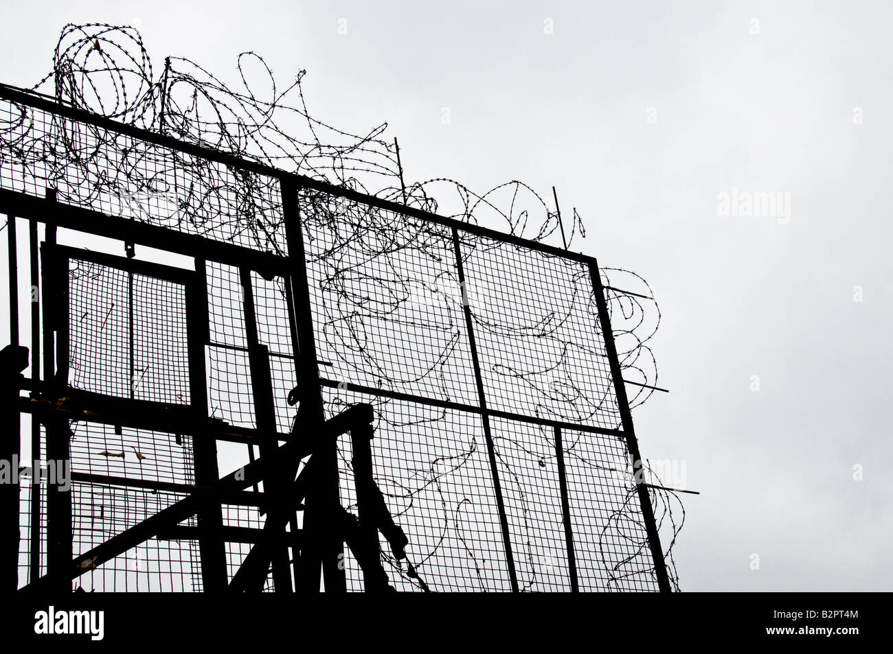 Barbed Wire Gate Stock Photos & Barbed Wire Gate Stock Images - Page ...