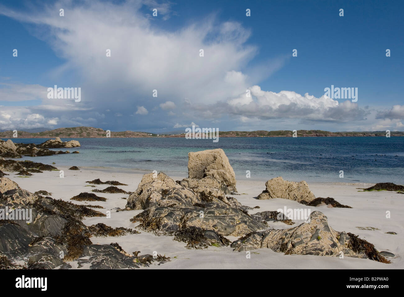 Clouds over Iona - Stock Image