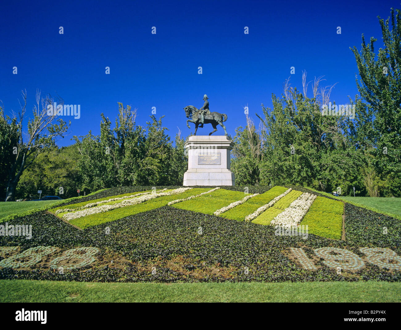 Statue of the First Marquess of Linlithgow Kings Domain Melbourne Victoria Australia Stock Photo