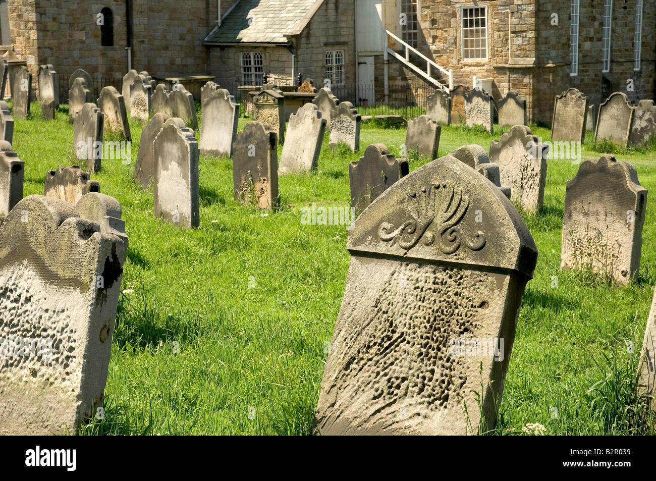 St Marys Church graveyard Whitby North Yorkshire England UK United Kingdom GB Great Britain Stock Photo