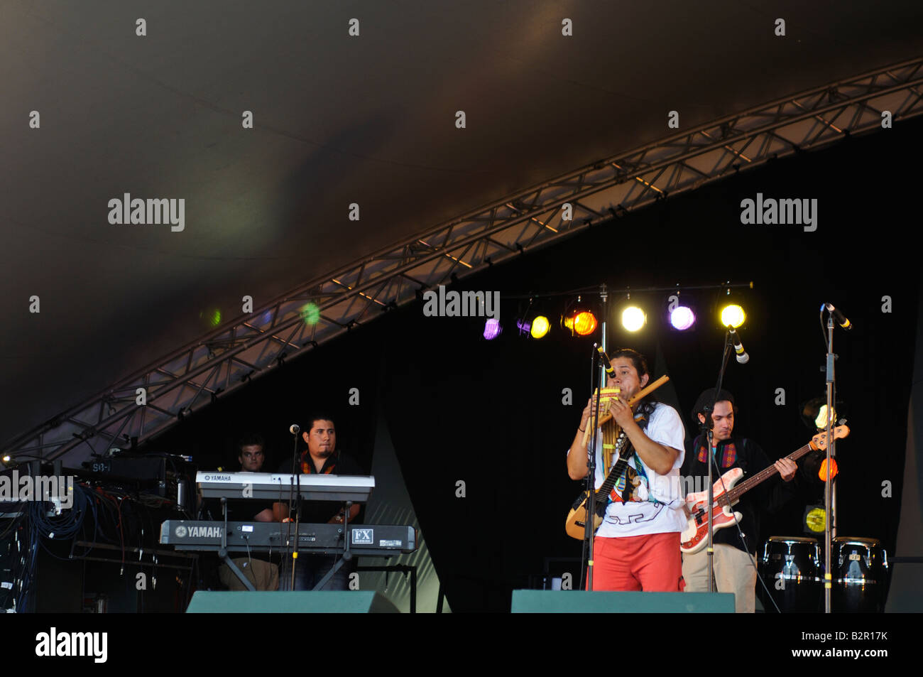 Latin American Carnival in London Kausary 7 launches band - Stock Image