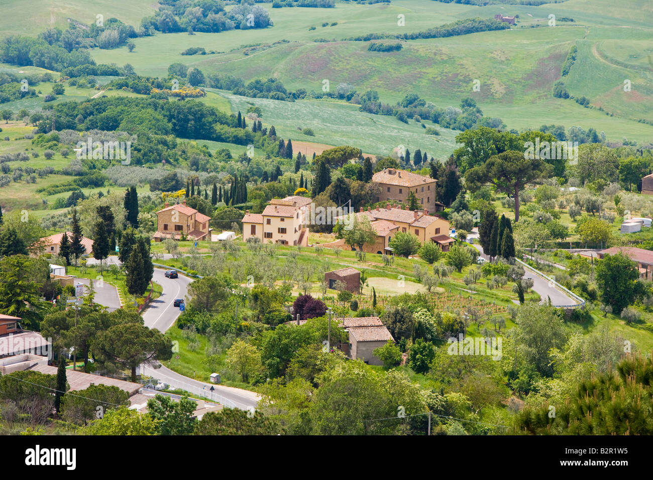 Landscape nearby Volterra - Stock Image