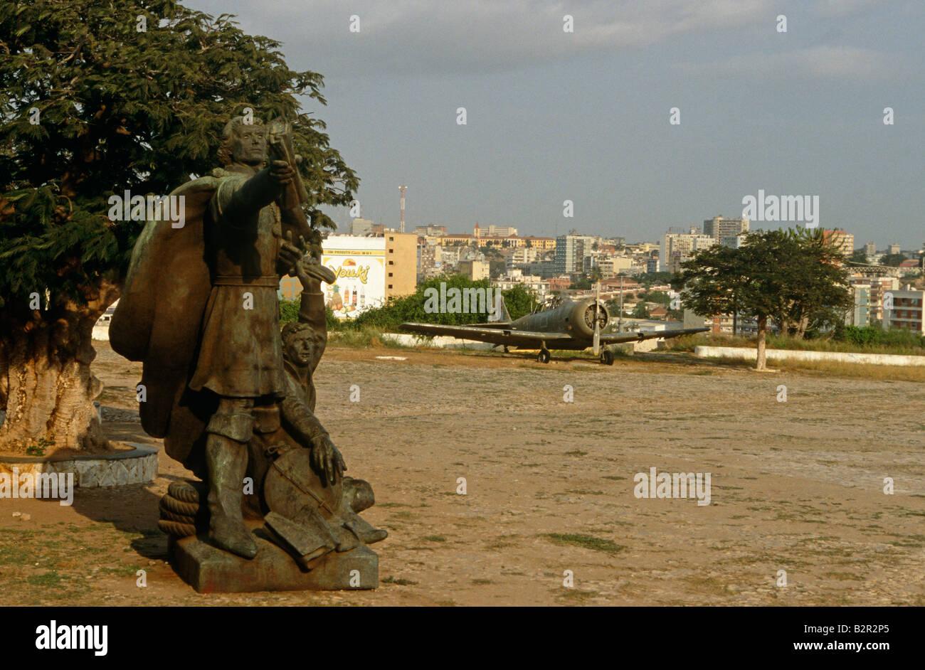 Old statue, Luanda, Angola - Stock Image