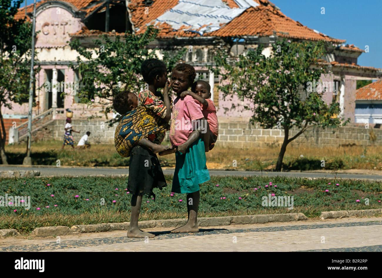 Street children in Luanda, Angola. - Stock Image