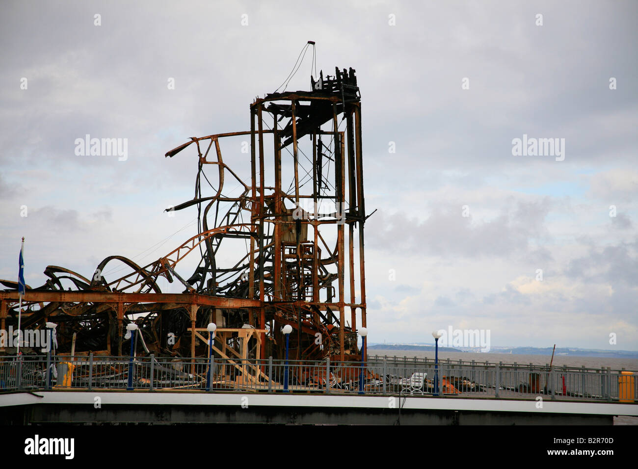 weston super mare pier after the fire 2008 - Stock Image
