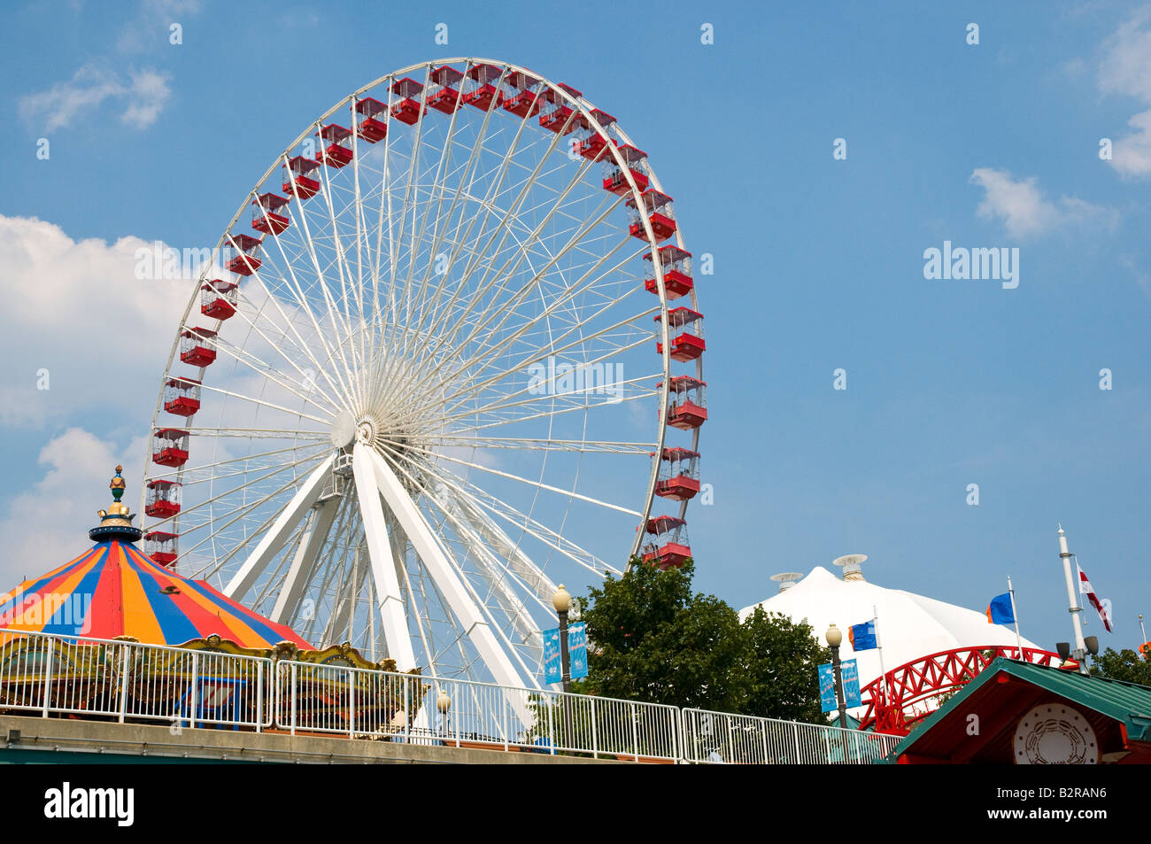 Chicago Navy Pier Ferris Wheel - Stock Image