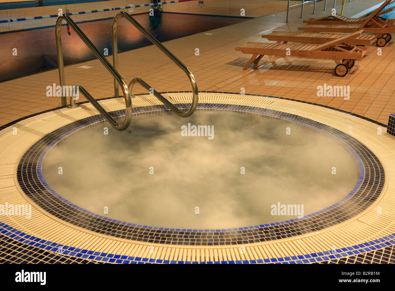 Indoor whirlpool Jacuzzi in an Esporta Spa Gym England Britian UK ...