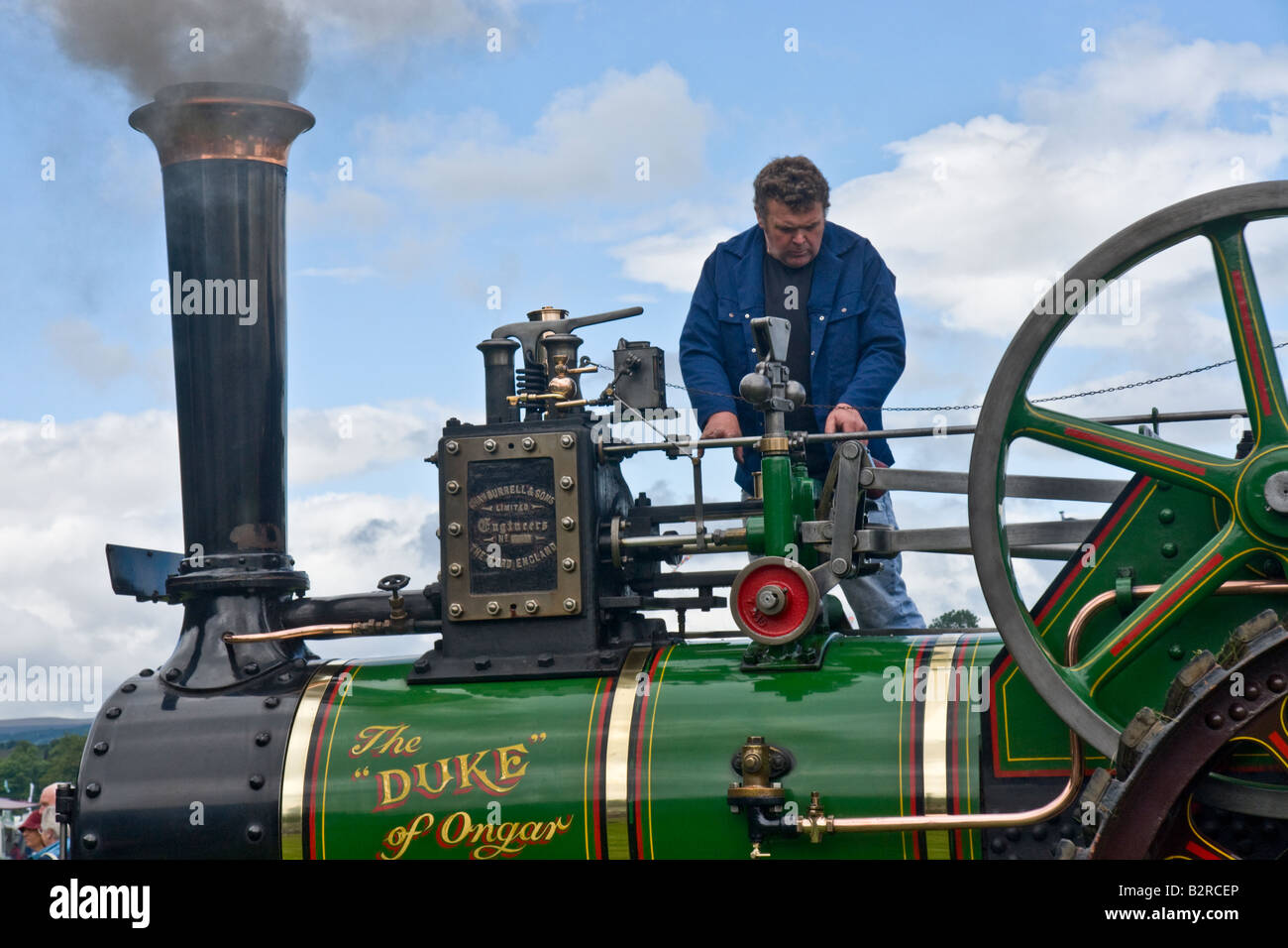 Burrell Traction Engine at the Masham Steam Engine and Fair Organ Rally, North Yorkshire - Stock Image