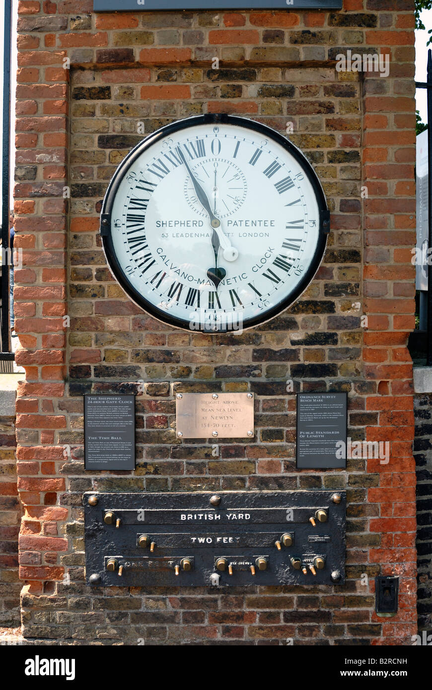 24 hour clock, Royal Observatory,Greenwich - Stock Image