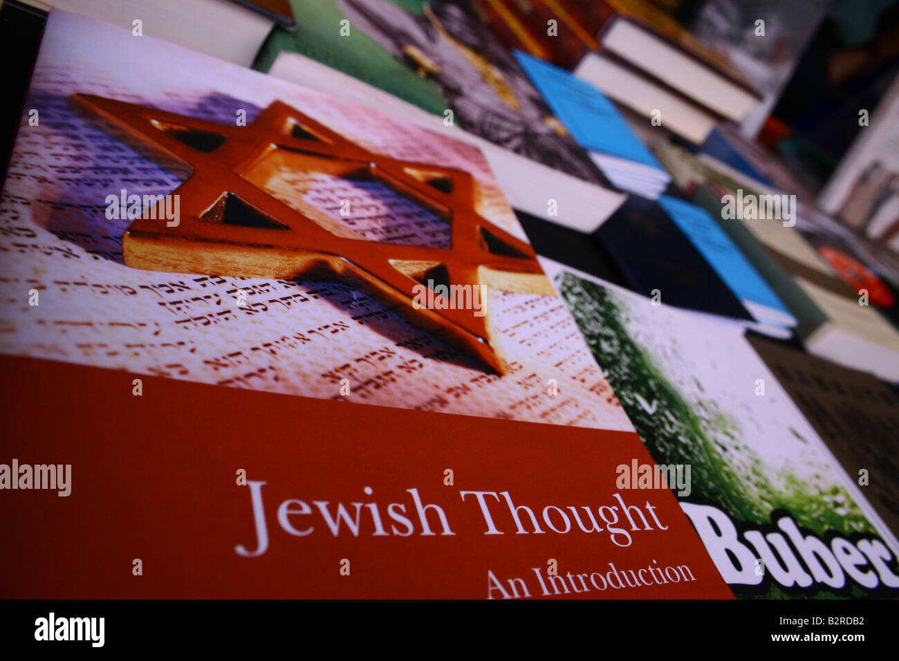 Jewish books being sold at a Market in Trafalgar Square - Stock Image