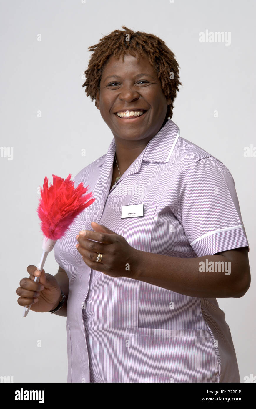 Black Afro Caribbean care assistant - Stock Image