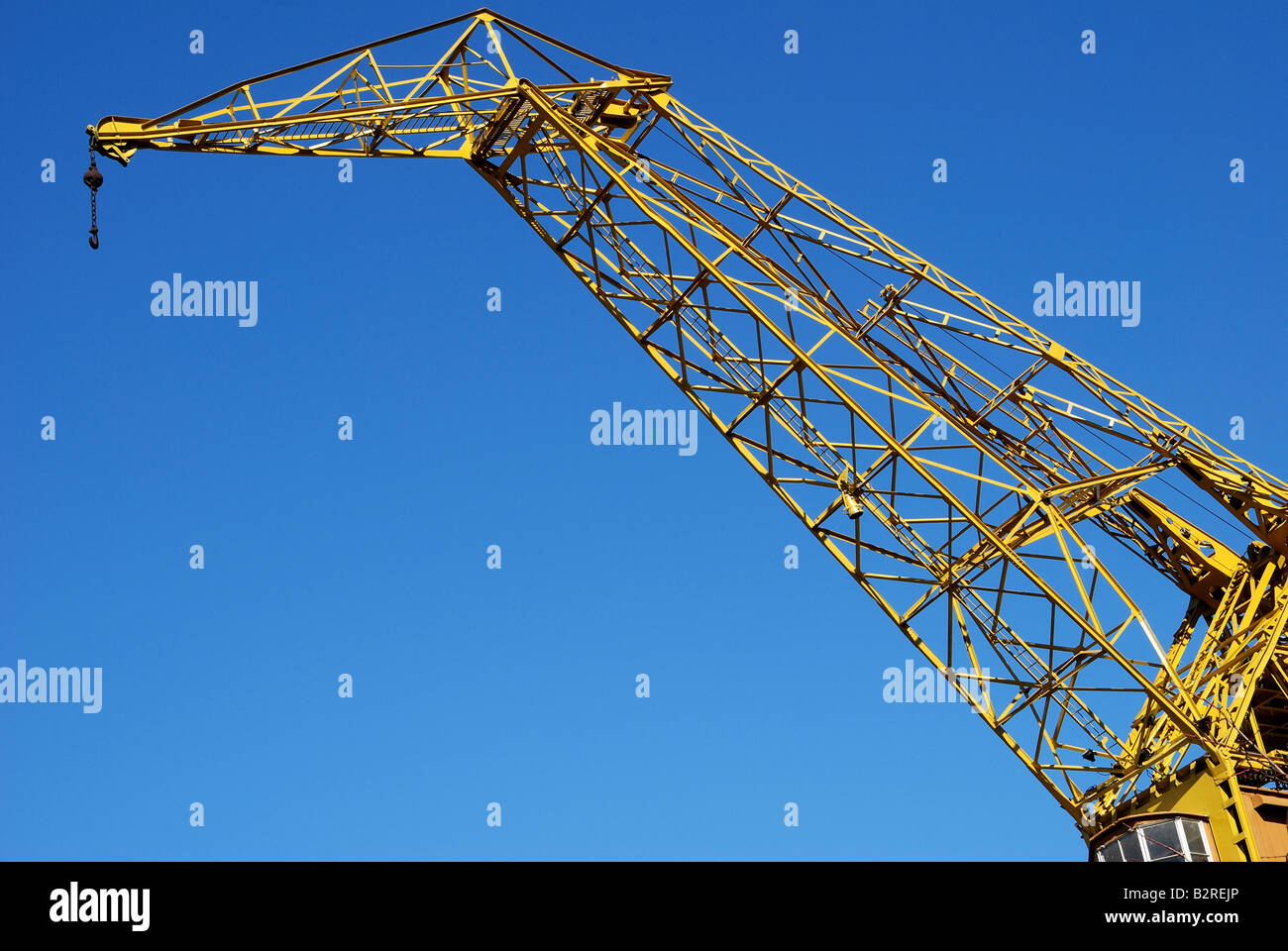 Elevating Cranes on a mooring in Puerto Madero. Argentina - Stock Image
