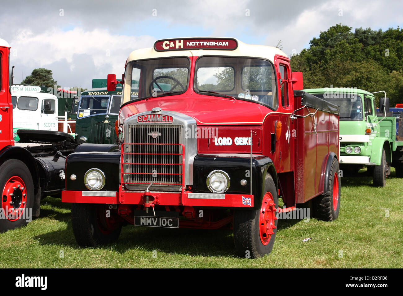 A Scammell vintage lorry at a rally in the U.K. - Stock Image