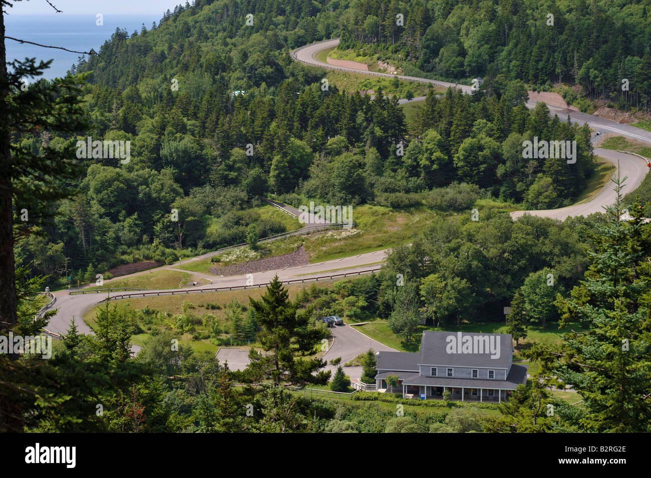 Fundy Trail Interpretive Centre in New Brunswick - Stock Image