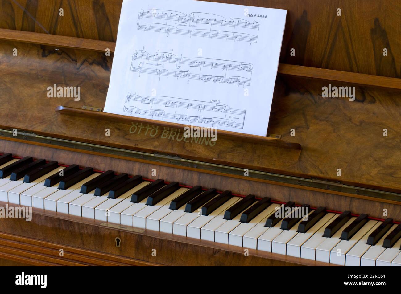 Piano Keys And Sheet Music Stock Photo 18957261 Alamy
