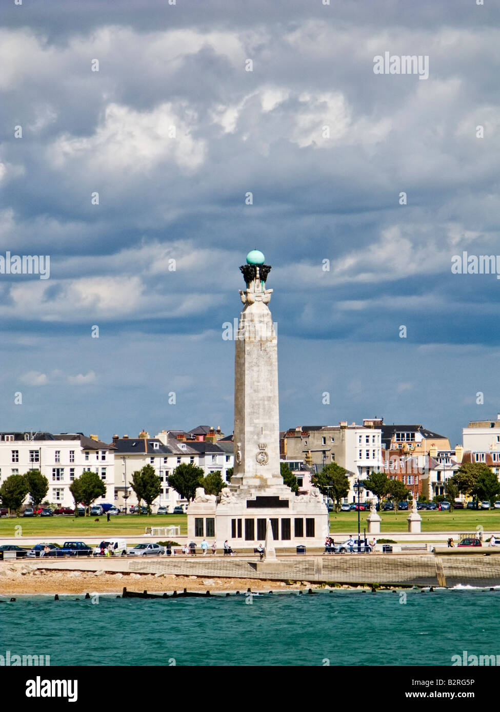 The Portsmouth Naval Memorial on Southsea Common, Portsmouth, Hampshire, England UK Stock Photo