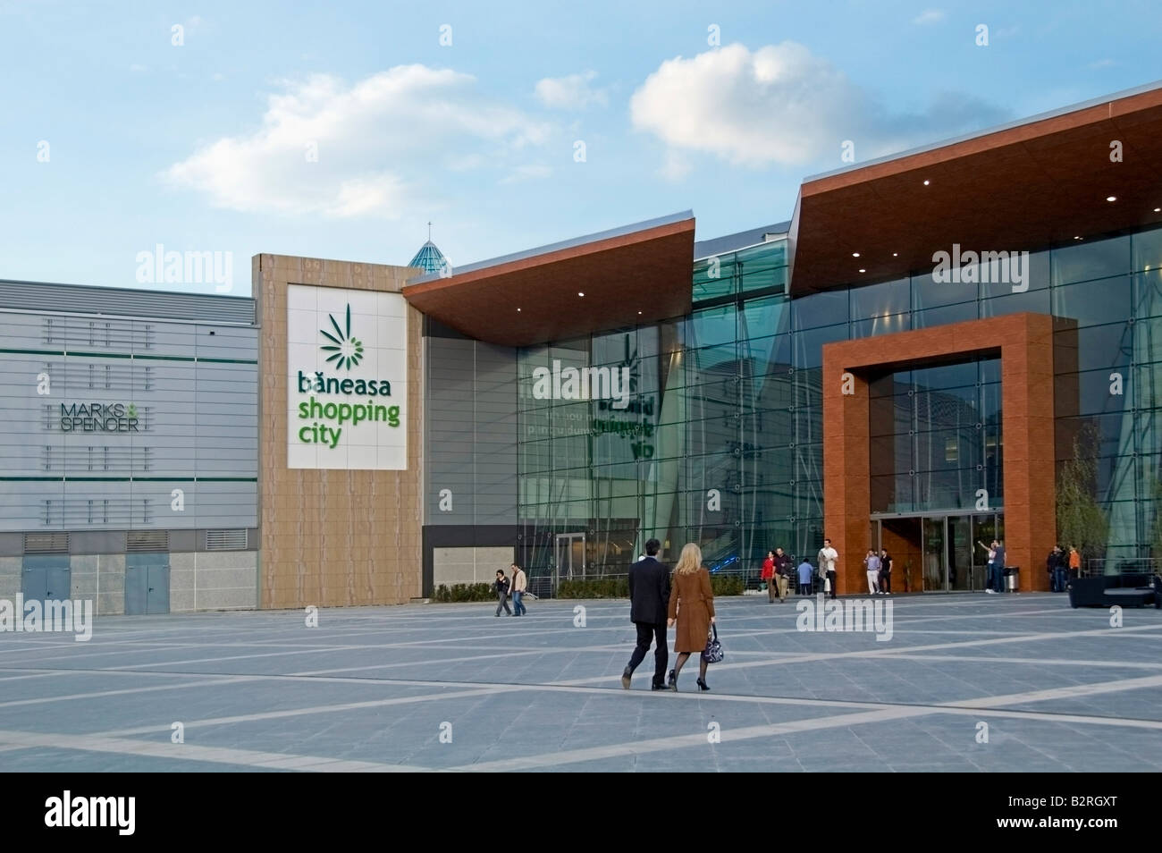 Baneasa New Modern And Contemporary Exterior Of Shopping Mall Centre Bucharest Romania Europe EU